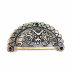 Ручка с драконом, цвет бронзовый