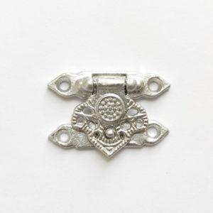 Замок для шкатулки декоративный цвет серебро