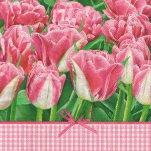 """Салфетки бумажные для декупажа """"Розовые тюльпаны"""""""