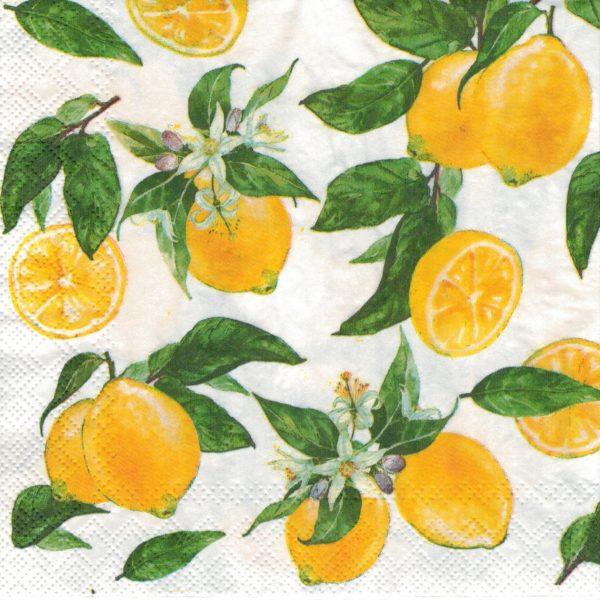 """Салфетки бумажные для декупажа """"Лимоны"""""""