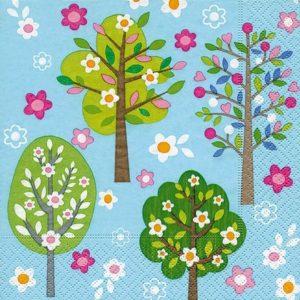 """Салфетки бумажные для декупажа """"Деревья в цвету"""""""