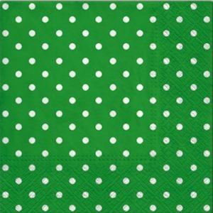 """Салфетки бумажные для декупажа """"Горох зелёный"""""""