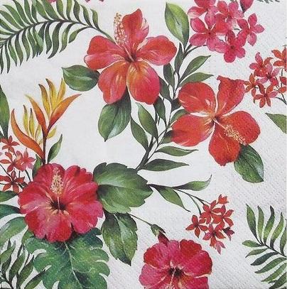 """Салфетки бумажные для декупажа """"Гавайские цветы"""""""