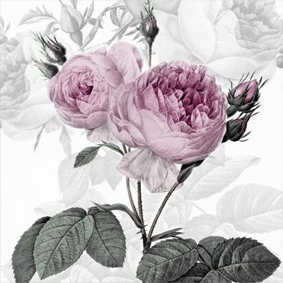 """Салфетки бумажные для декупажа """"Лиловые розы"""""""
