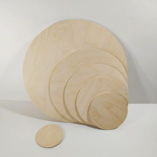 Заготовки деревянные круглые, фанера
