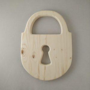 """Панно деревянное """"навесной замок"""""""
