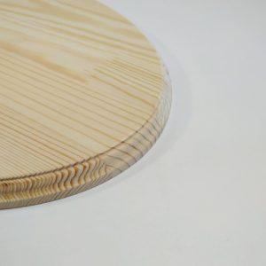 Фаска овальной заготовки для часов из сосны
