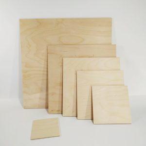 Заготовки деревянные квадрат фанера