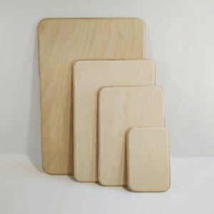 Заготовка деревянная прямоугольник скругленный край, фанера