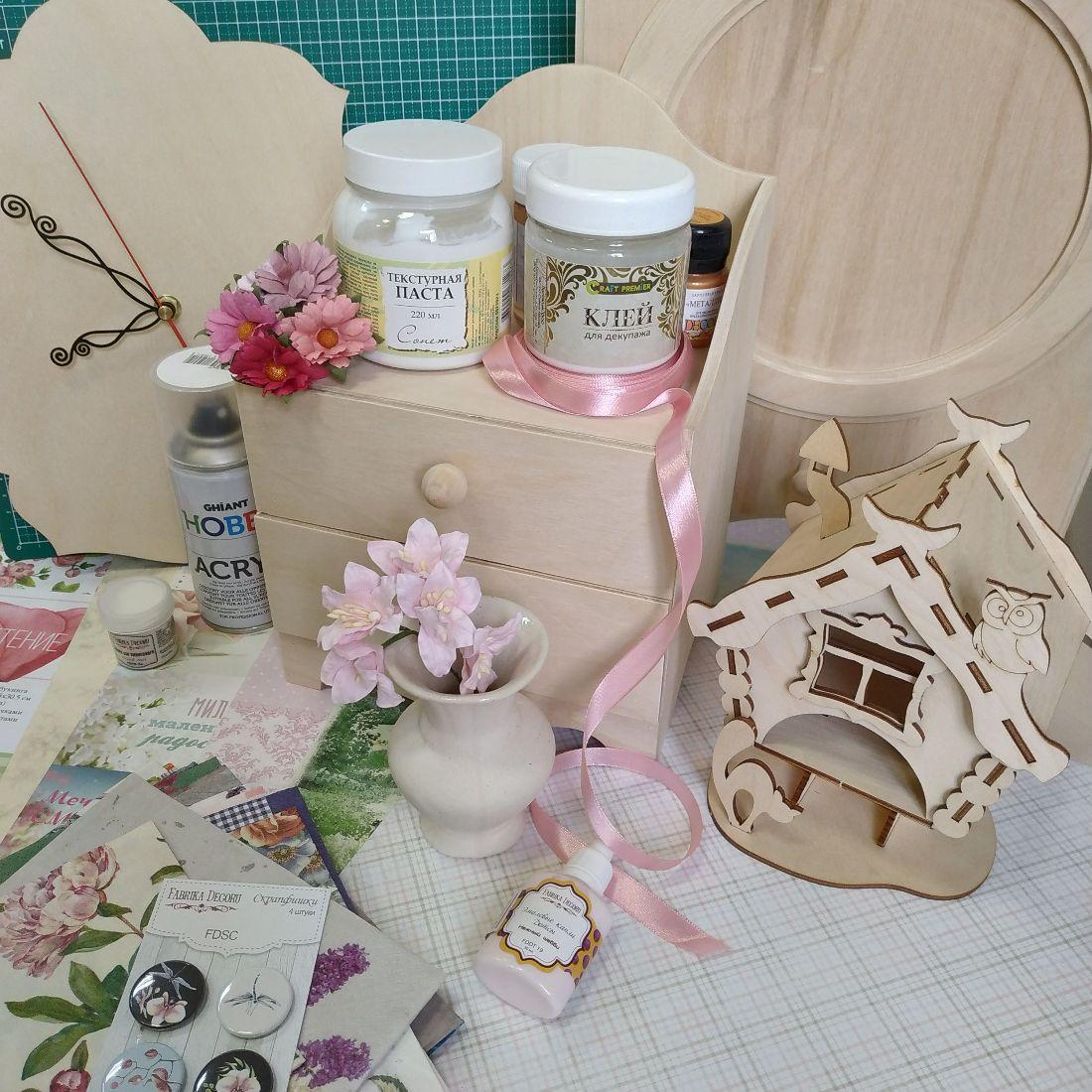 Товары Маг Хобби: заготовки, клеи-лаки, цветы, фишки, прочее