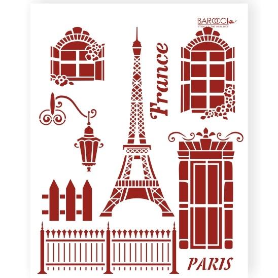 "Трафарет пластиковый ""Париж"""