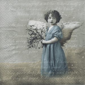 """Салфетки бумажные для декупажа """"Голубой ангелочек"""""""
