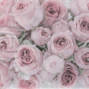"""Салфетки бумажные для декупажа """"Розовые розы"""""""