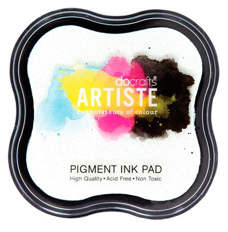 Подушечка штемпельная пигментная Docrafts Artiste, цвет белый
