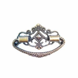 Ручка для шкатулок ажурная подвесная, цвет бронзовый