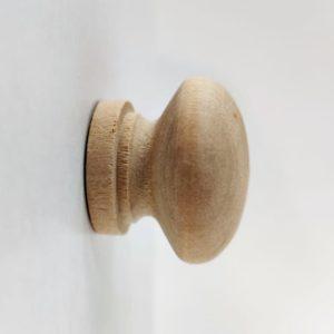 Ручка-кнопка деревянная, 30*35 мм