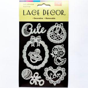Наклейки декоративные в виде кружев