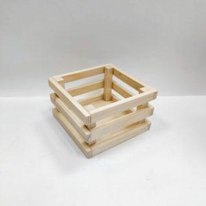 Ящик реечный декоративный малый, сосна