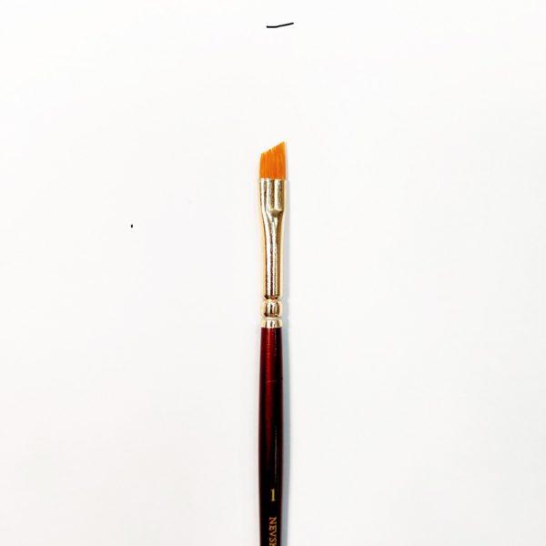 Кисть с синтетическим ворсом Decola плоская, со скошенным краем