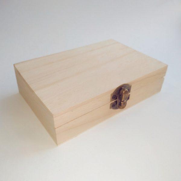 Шкатулка прямоугольная из бамбука 14,5*10*4 см