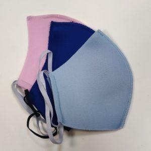 Маска тканевая защитная многоразовая, цвета в ассортименте (неопрен)