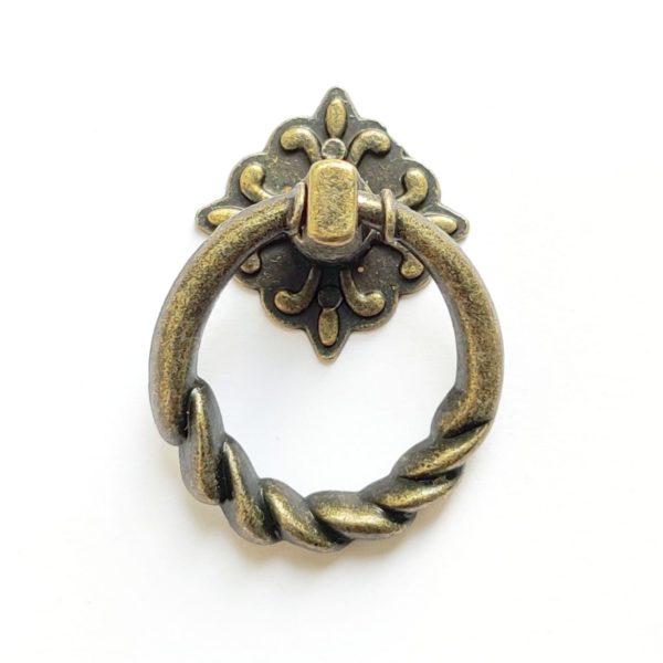 Ручка-кольцо витая цвет бронзовый