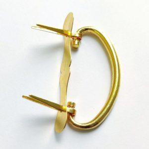 Ручка-скоба золотая с креплением на зубцы