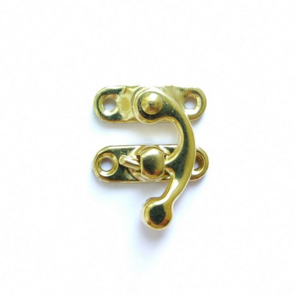 Замочек-крючок декоративный цвет золотой ШЗМ4