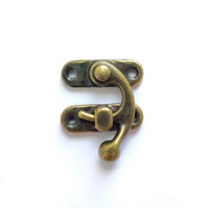 ШЗМ9 Замочек-крючок декоративный цвет бронзовый