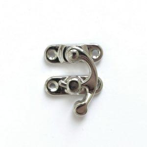 Замочек-крючок декоративный цвет серебряный