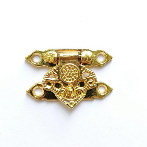 Замок для шкатулки декоративный цвет золотой