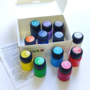 Набор акриловых красок по стеклу и керамике DECOLA, 12 шт х 20 мл