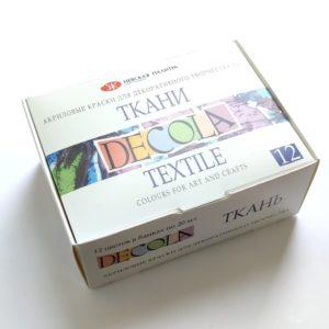 Набор акриловых красок по ткани DECOLA