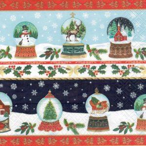"""Салфетка бумажная для декупажа """"Рождественские стеклянные шары"""""""