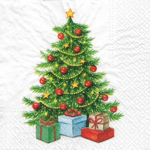 """Салфетка бумажная для декупажа """"Рождественское дерево"""""""