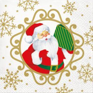 """Салфетка бумажная для декупажа """"Привет Дед Мороз!"""""""