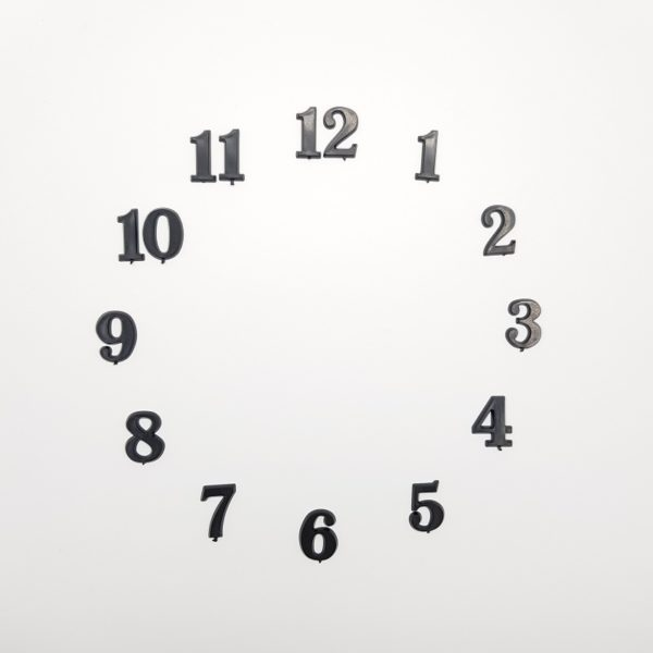"""Комплект пластиковых цифр для часов """"Арабские"""" черные 20 мм"""