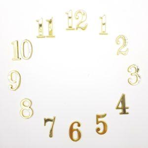 """Комплект пластиковых цифр для часов """"Арабские"""" золотые 3 см"""