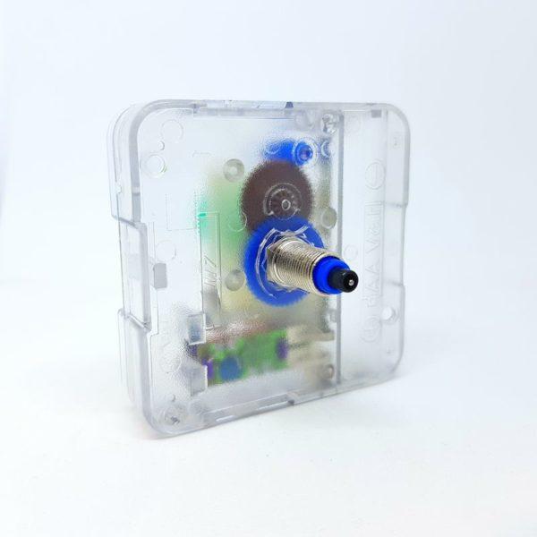 Часовой механизм кварцевый плавного хода 18/11 мм, прозрачный