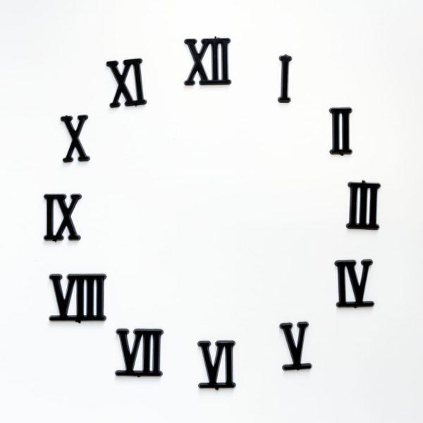 """Комплект пластиковых цифр для часов """"Римские"""" 25мм"""