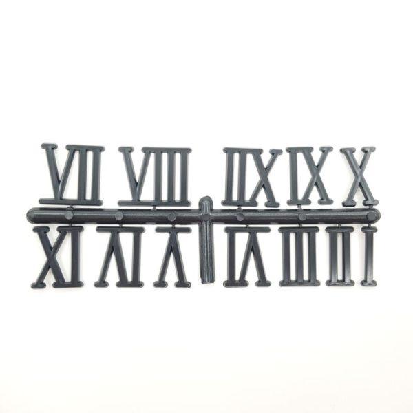 """Комплект пластиковых цифр для часов """"Римские"""" черные 30 ммКомплект пластиковых цифр для часов """"Римские"""" черные 30 мм"""