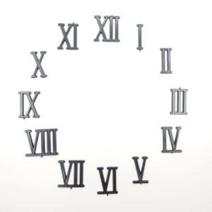 """Комплект пластиковых цифр для часов """"Римские"""" черные 30 мм"""