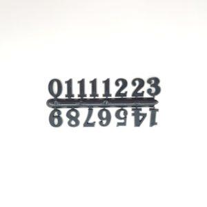 """Комплект пластиковых цифр для часов """"Арабские"""" черные 15 мм"""