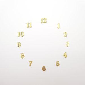 """Комплект пластиковых цифр для часов """"Арабские"""" золотые 15 мм"""