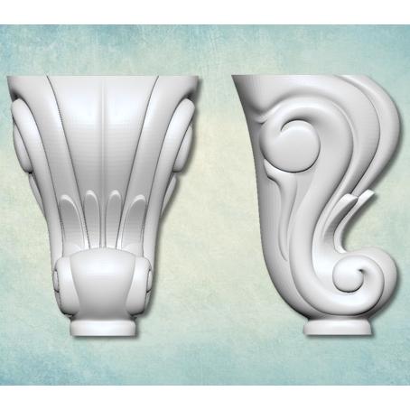 Молд 3D Ножка Античная