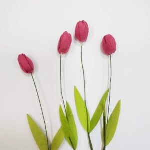Тюльпан бумажный цвет розовый