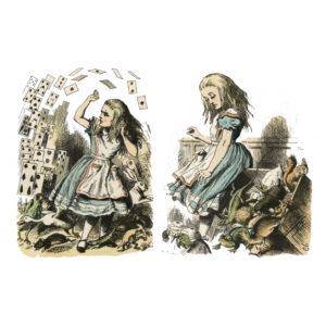 """Бумага рисовая для декупажа """"Алиса в стране чудес клиарт №3"""" А3"""