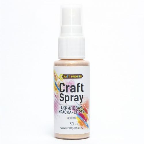 """Акриловая краска-спрей """"Craft Spray"""" 30 мл цвет Золото"""
