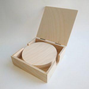 Подставки под горячее круглые в коробочке