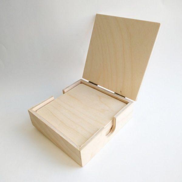 Подставки под горячее квадратные в коробочке